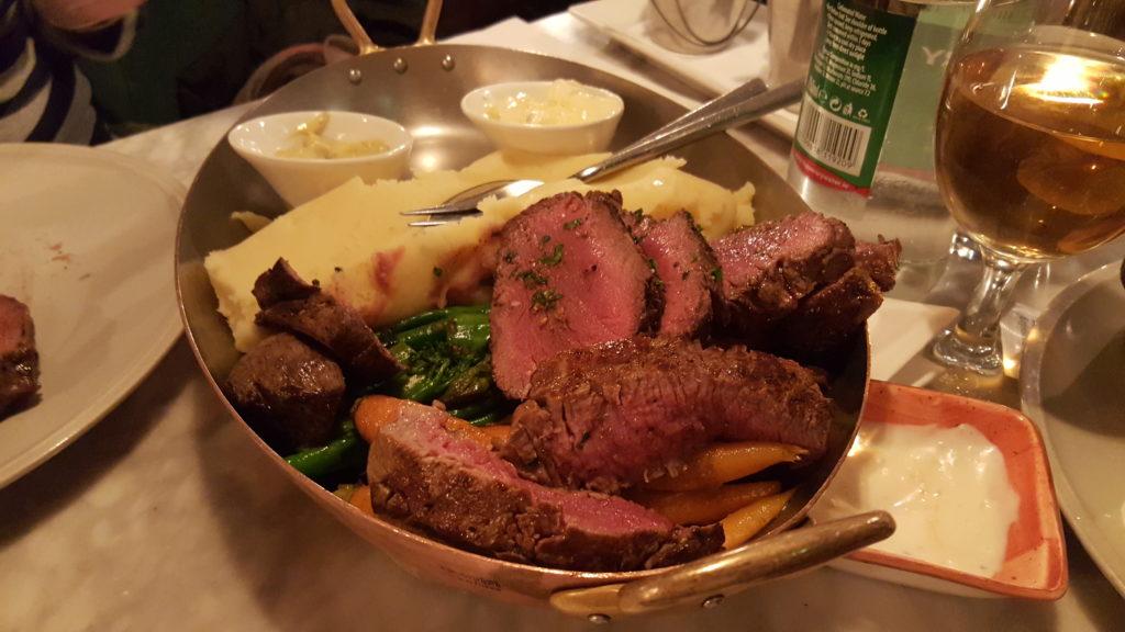 アイルランドのステーキレストラン